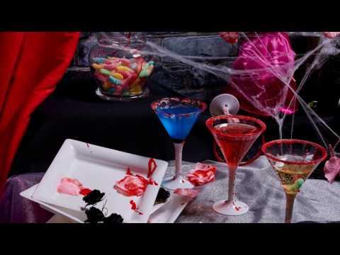 Cocktails coloridos para Halloween