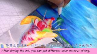 教學影片2 UCHIDA 1100 (毛筆頭)彩繪漫畫筆