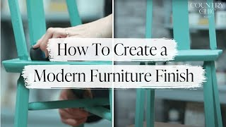 How To Create A Modern Finish On Painted Furniture With Hemp Oil | Furniture Painting Tutorial