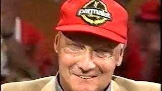 Formel 1   Das Erste Mal Niki Lauda Zieht Die Kappe (1st Time Niki Takes His Cap Off)