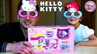 Hello Kitty Haustiersalon Blue-Box Toys - 13 Teile Spielset Koffer