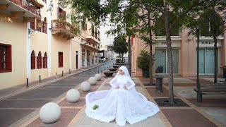 A Bride Had To Run For Cover As She Was Posing For Photos In Beirut Moments Before The Explosion.
