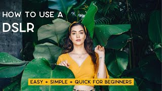 How To Use Manual Mode On Your DSLR Camera   Basic Camera Settings Explained For Beginners