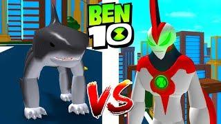 Ben 10 Way Big vs Landshark Roblox Ben 10 Arrival of Aliens