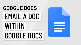 Google Docs: Email a Doc as an Attachment