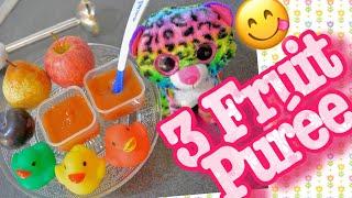 বেবি ফ্রুট পিওরে ৪-৬+ স্টেজ ১ || Baby fruit purée 4-6 + stage 1 | Baby Food Bangla recipes | BD Mom
