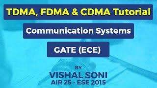TDMA, FDMA, CDMA | Communication Systems | GATE (ECE) Preparation