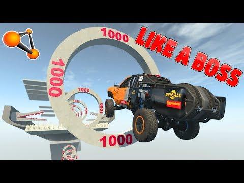BeamNG.DRIVE | Impossible Car Stunts #7
