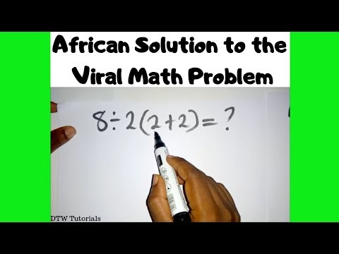 African Solution to the Internet's Viral Math Problem 2019