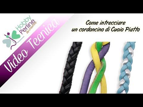 Come intrecciare un cordoncino di Cuoio Piatto | TECNICA - HobbyPerline.com
