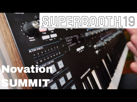 Superbooth 2019 - Novation SUMMIT Poly Synth