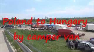 preview picture of video 'Nowy Targ market - Poland to Hungary by camper van part 27'