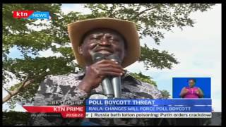 KTN Prime: CORD Leader Raila Odinga hints at 2017 General Election boycott if laws are changed