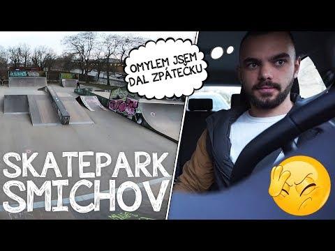 SKATEPARK SMÍCHOV A MÁLEM NABOURANÉ AUTO! | Freestyle Scootering #13