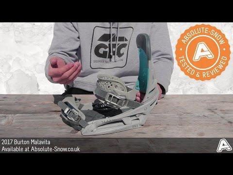 2016 / 2017 | Burton Malavita Snowboard Bindings | Video Review