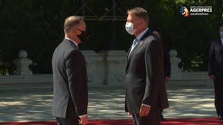 Preşedintele Poloniei, primit la Palatul Cotroceni