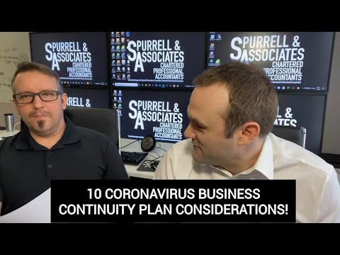 10 Coronavirus Business Continuity Plan Considerations | Business Strategy