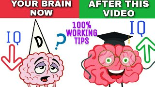 5 Tips to Improve Memory and Brain Power   IQ कैसे बढाएं   How to increase your IQ level in hindi