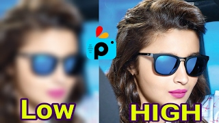 How to get high quality output image in picsart by Badshah editing Zone