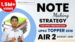 Note Making Strategy for UPSC Preparation by CSE Topper 2018 AIR 2 Akshat Jain - Download this Video in MP3, M4A, WEBM, MP4, 3GP