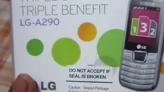 LG A290 triple sim mobile review