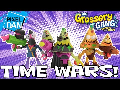 Grossery Gang Time Wars NEW Series 5 Figures Cyber-Slop Pizza Video Review