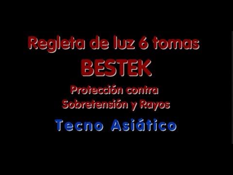 Regleta 6 tomas BESTEK-Protección contra sobretensión y rayos