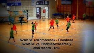 preview picture of video 'SZKKSE edzőmeccsek - Orosháza -  SZKKSE vs. Hódmezővásárhely - első meccs - U10'