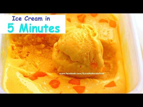 Video Quick and Easy Mango Ice Cream Recipe- chinnuz' I Love My Kerala Food