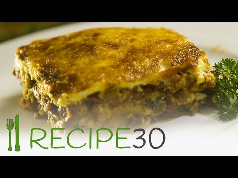 Vegetarian Moussaka recipe