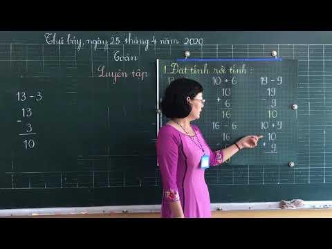 Môn Toán lớp 1, bài Luyện tập (tiết 82) (GV Nguyễn Thùy Vân Phượng, Trường TH C Phú Mỹ)