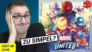 Marvel United - komplette Partie inklusive Erklärung vorgespielt mit abschließendem Fazit - Test