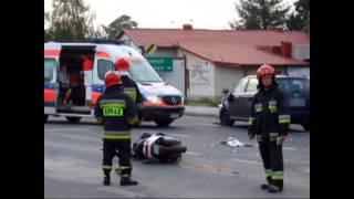 Zderzenie skutera i osobówki w Krośnie