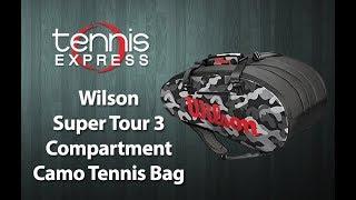 Wilson Super Tour 3 Compartment Camo Tennis Bag | Tennis Express