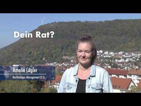 Thumbnail YouTube Video mit Foto der Studentin und der Frage: Dein Rat für jemanden, der interessiert ist?