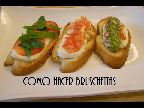 Como Hacer Bruschettas - Tradición Italiana
