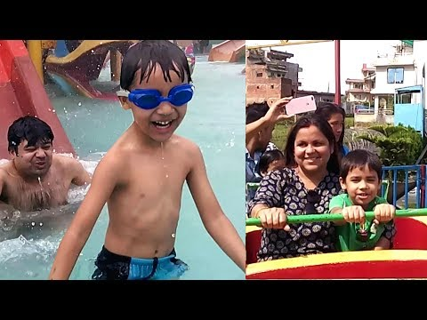WATERPARK Family Fun Outdoor Amusement of Giant Slides at Kids Playtime