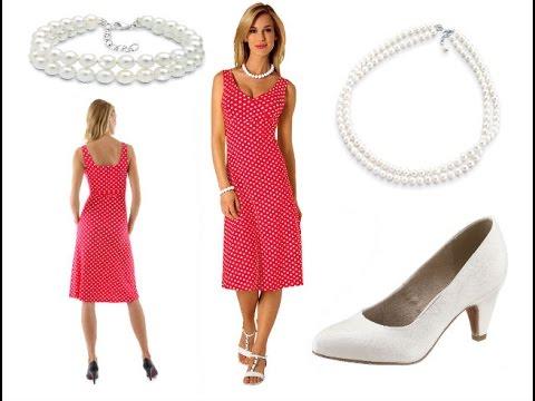 Rotes Kleid mit weißen Punkten + Outfit Tipps