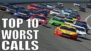 Top 10 Worst NASCAR Officiating Calls