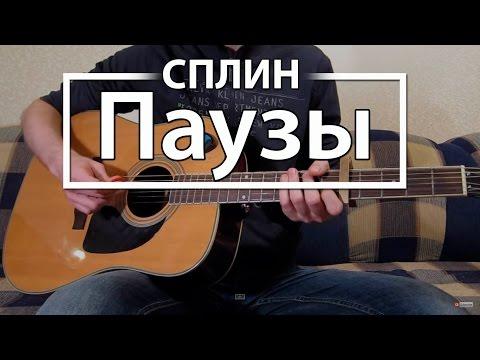 """Как играть """"Паузы"""" - Сплин (Разбор для гитары, Аккорды, Табы, видеоурок Сплин)"""