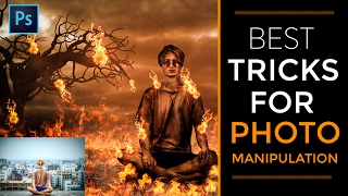 Photoshop CC Tutorial | Best Tricks for photo manipulation | Fire effects