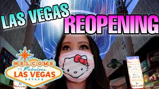 LAS VEGAS STRIP REOPENING (WHAT ITS LIKE DURING PANDEMIC) JUNE 2020, CAESARS PALACE, FREMONT STREET