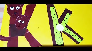 Alphabet Crafts (K Is For Kangaroo And Kiwi)
