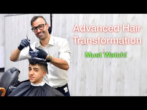 Hair Dye & Haircut Tutorial – Hair Transformation – Best Hairstyle For Men #33