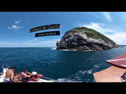 (360 VIDEO) A boat trip around Arraial do Cabo, Brazil