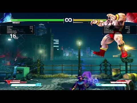 MENAT: 6x Fierce combo + Double Jump-in Combo
