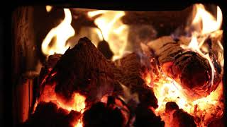 Real Wood Burning Fireplace with Crackling Fire Sounds 4K - No Loop - Ultra HD - 2160p