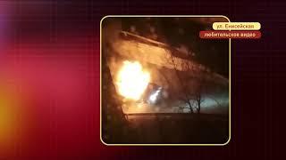 Автомобиль выгорел дотла на Енисейской