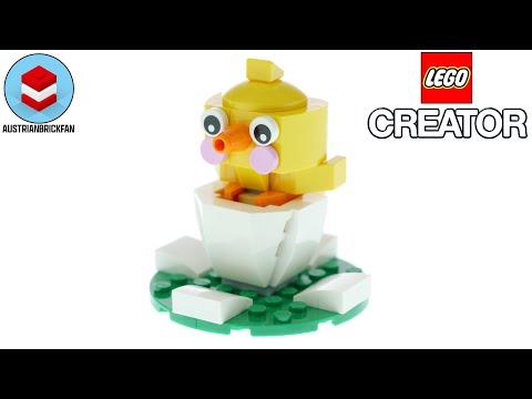 Vidéo LEGO Creator 30579 : Le poussin de Pâques dans son œuf (Polybag)