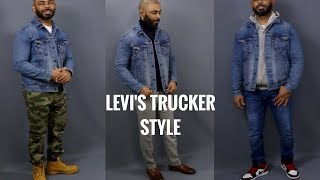How To Style Levis Denim Trucker Jacket/ How To Wear And Review Of Levis Denim Trucker Jacket